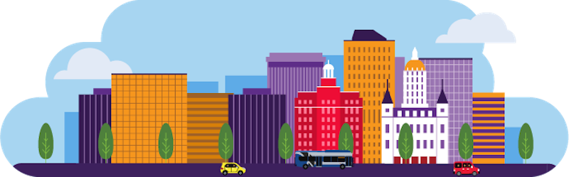 Downtown Connecticut Illustration